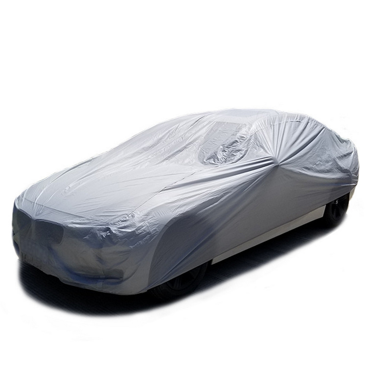 Silver Waterproof Car Cover sun care UV Protection Car Body Cover