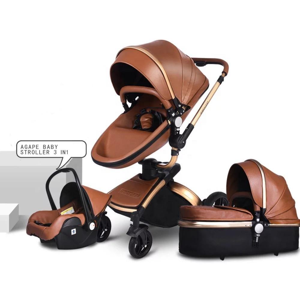 Wholesale cheap travel system luxury baby stroller 3 in 1 with carrycot and carseat фото