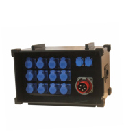 stage distro power box distribution with led control panel