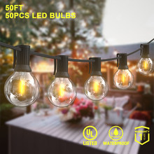 50 футов 30 футов 25 футов светодиодный светильник с гирляндой s Сказочный Свадебный светильник светодиодный светильник с глобусом светодиодн...(Китай)