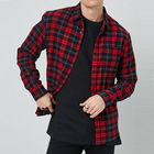 2019 latest hot selling fashion long sleeve flannel man shirt designs buttons casual mens shirts