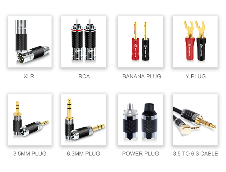 RASANTEK custom safety audio connector ABS highlight shell speaker cable hifi 4mm banana plug terminal