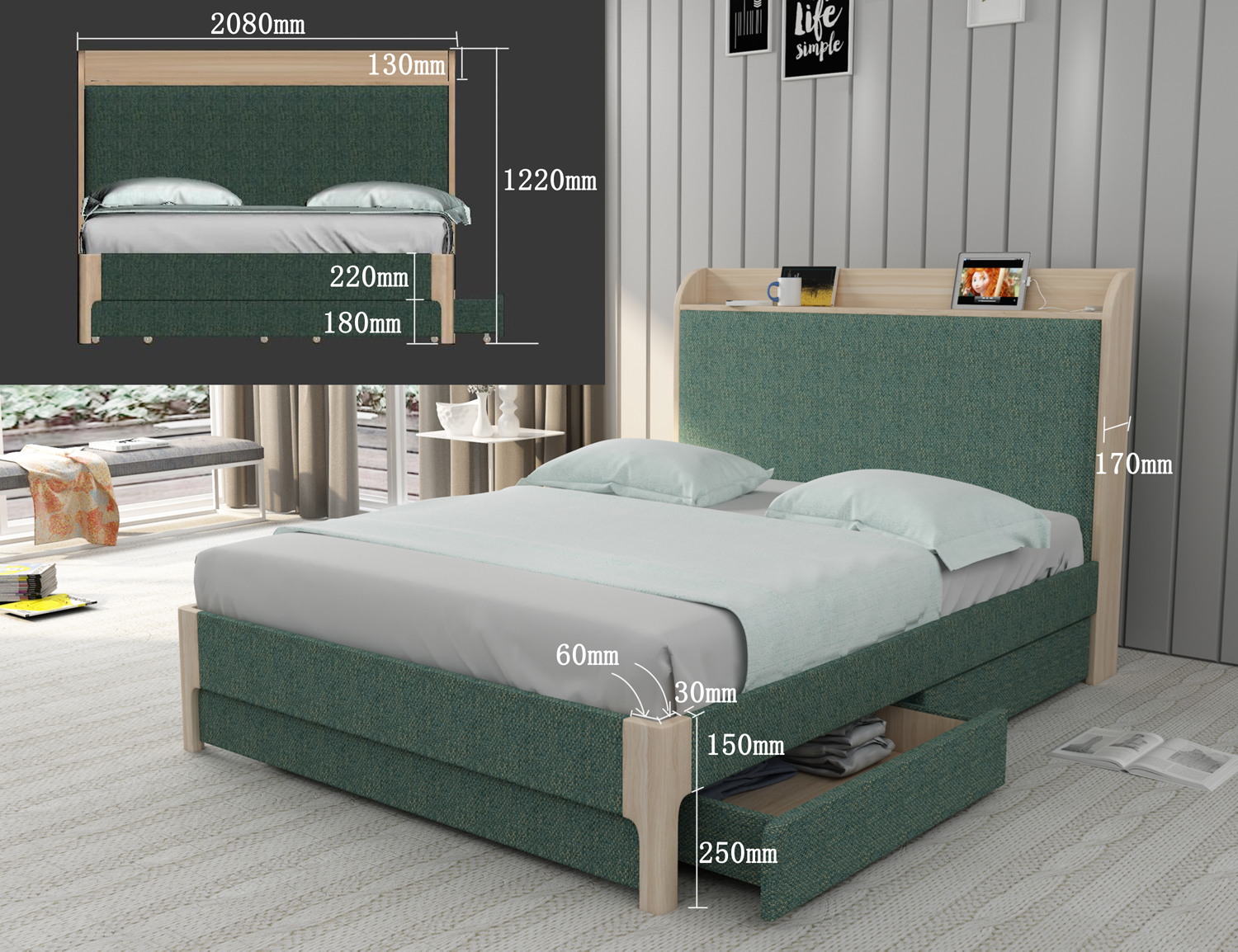 Upholstery Divan King Storage Bed Design In Wooden Drawer Double Bed Buy Drawer Double Bed Divan Bed Design In Wooden King Storage Bed With Drawers Product On Alibaba Com