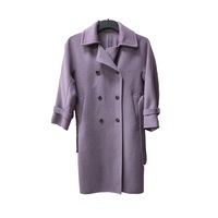 custom french fashion spring women luxurious formal fleece wool fabric clothing woolen coat wool jacket trench coats for ladies