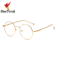 Retro Circular Metal tr90 New Optical glasses frame