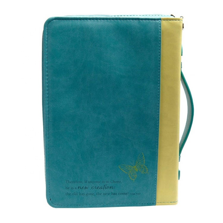 Handmade Leather Bible Cover with Zipper Wholesale