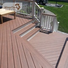 MexyTech anti-uv waterproof wood plastic flooring anti-slip outdoor composite wpc decking