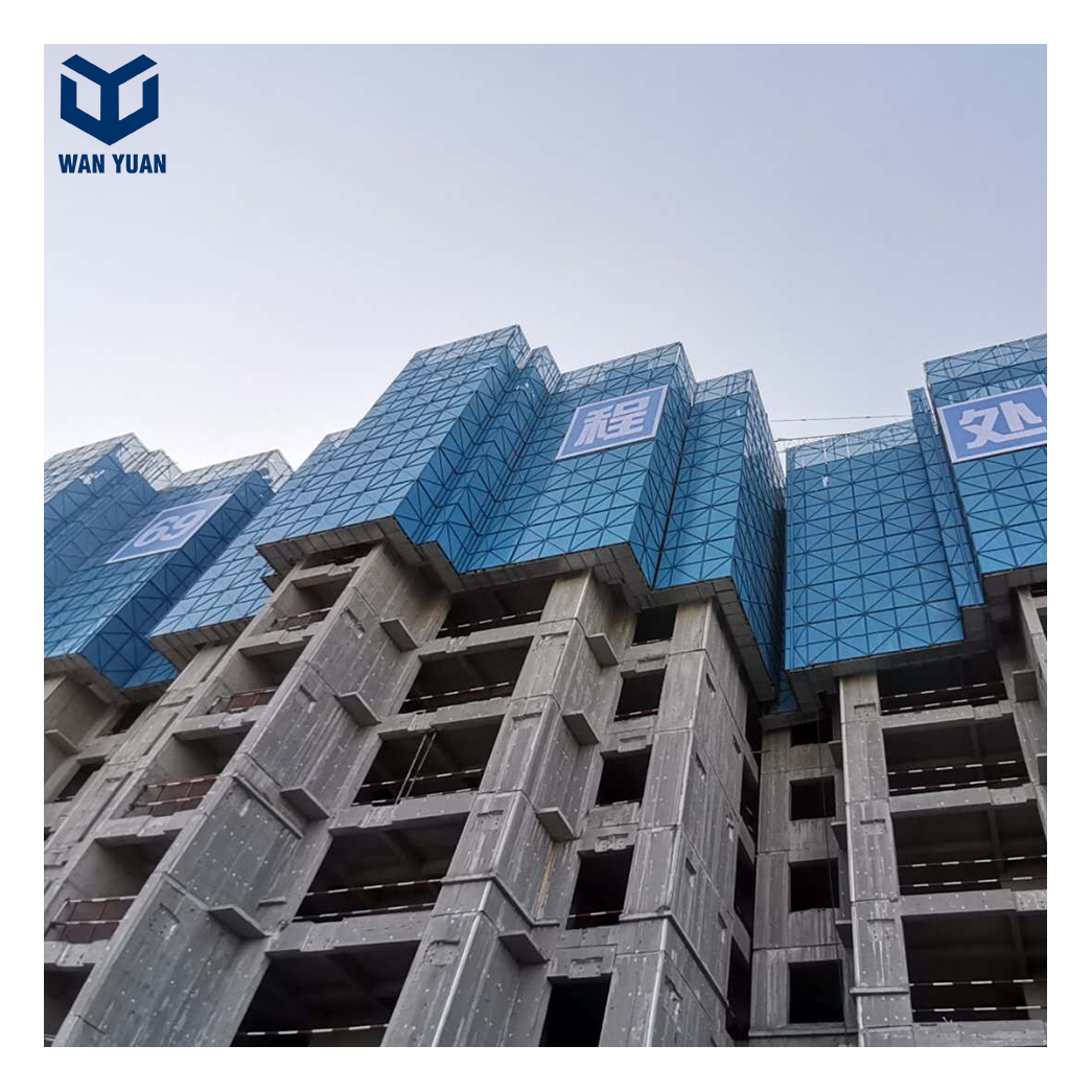 Facade structure construction reusable electric lifting assembled protection panel system