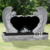 Carving stone tombstone marble religious double angel heart headstone monument