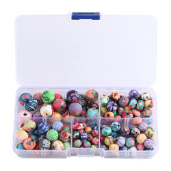 Mixed More Sizes Polymer Clay round Beads Flat Bea