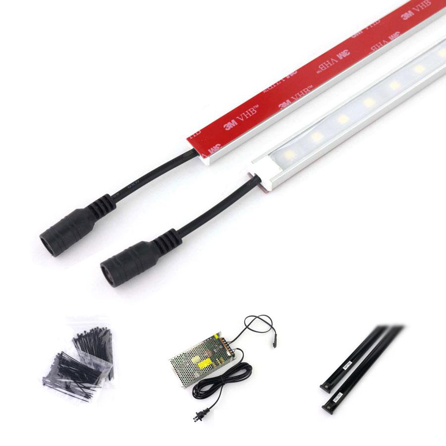 5050 LED Rigid Bar Lights Low-Voltage Micro-Market LED Lighting kit with Magnetic DC Power Track, Supermarket & Shelf Lighting