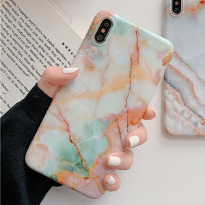 Marble case for iphone 11 11Pro Max XS Max XR case Granite painted tpu case For Iphone 8 7 Plus X 6 6S Protective Fundas Capa