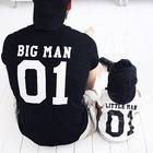 SADI parent-child printed clothing father and son matching clothes family short sleeve shirt kid outfits baby boy t shirt