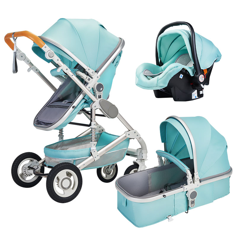 2020 China Factory Luxury European Baby Stroller, High Quality 3 In 1 Baby Stroller Pram With Car Seat/