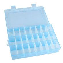 DIY Регулируемая пластиковая коробка для хранения шкатулка держатель прозрачный стол органайзер чехол серьги бусины чехол s Clear # Ju(Китай)