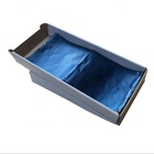 hair coloring foil blue color printed aluminum foil embossed folded edge pre-cut foil sheets for salon hairdressing