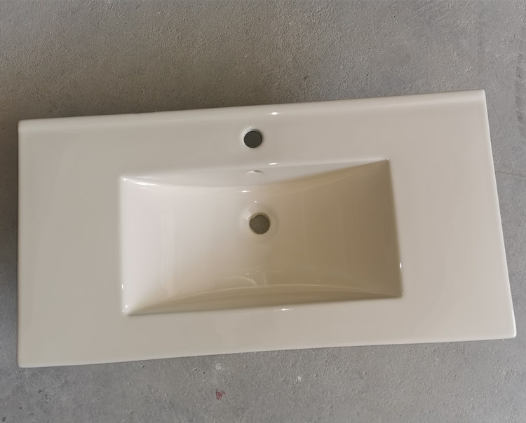 High quality low price bathroom ceramic ivory color basin