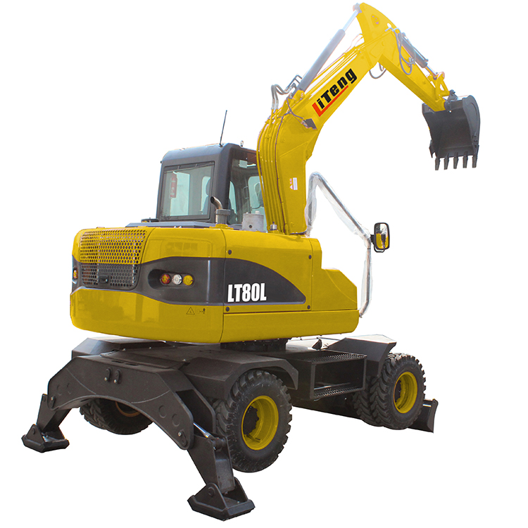 Hydraulic mini grab excavator with log handler machine attachment