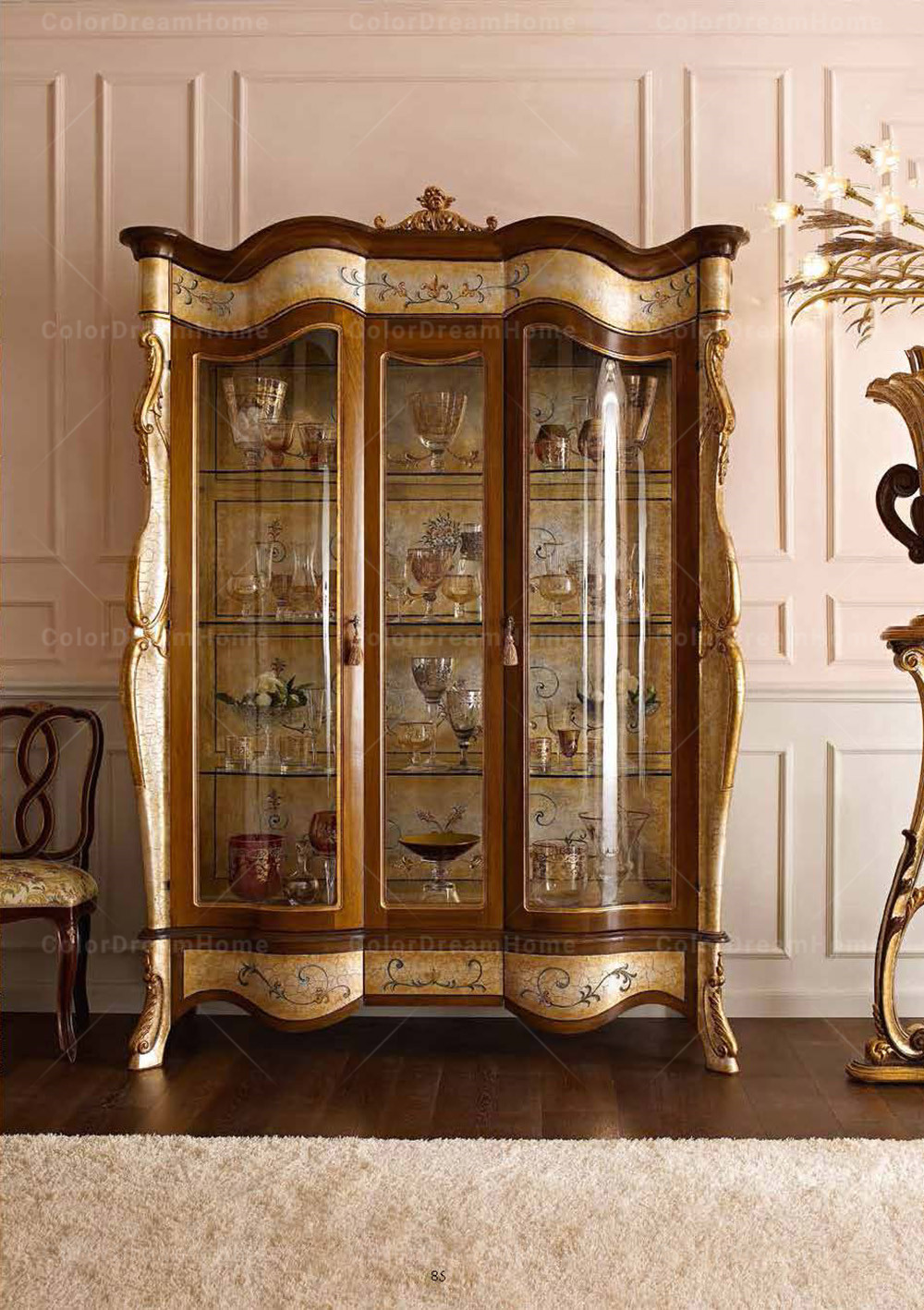 Baroque Luxury Golden Buffet Cabinet Sideboard With Mirror ...