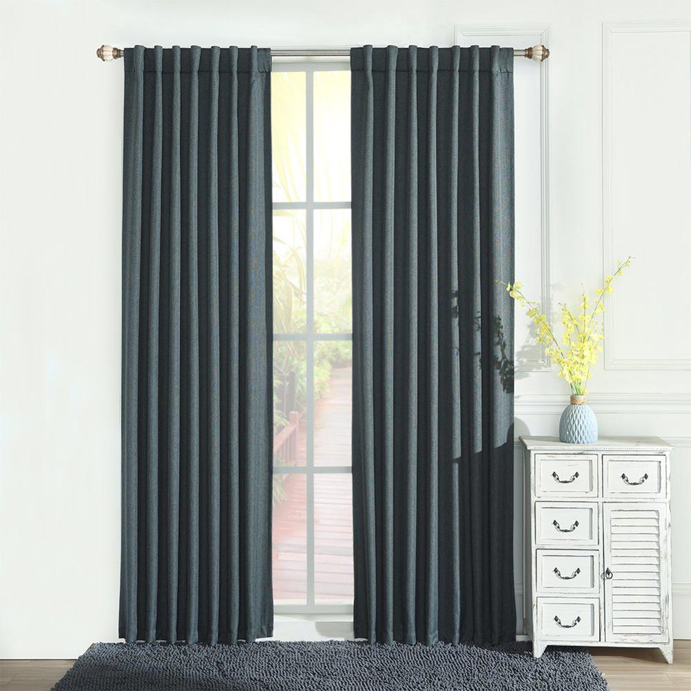 Oscurecimiento de la habitación cortinas ventana tratamiento Grey paneles varilla bolsillo cortinas para la sala