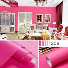 40x100 см самоклеящаяся матовая настенная бумага водонепроницаемый ПВХ спальня сплошной цвет наклейки на стену в офис DIY Детская комната наст...(Китай)