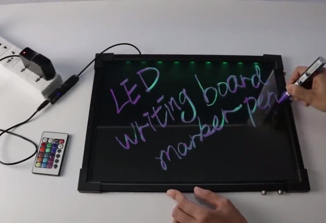 FÜHRTE Nachricht Schreibtafel, Beleuchtet Löschbaren Neon Wirkung Restaurant Menü Zeichen Blinkende Nachricht Tafel für Business & Kid