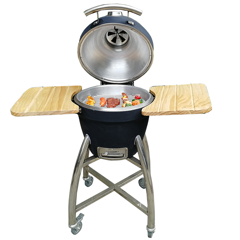 16 inch Automobile Outdoor Charcoal <strong>Grill</strong> <strong>Fish</strong> sausage meat food smoker bbq <strong>Grill</strong> <strong>machine</strong> With barbecue Oven