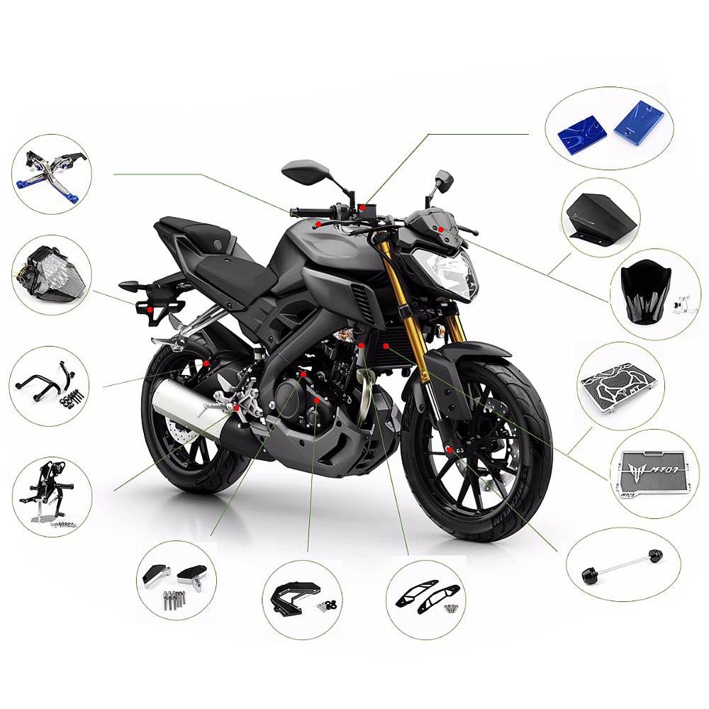 Accessoires de Voiture pour Yamaha MT-09 FZ09 MT07 MT-07 35mm Cool Moto CNC en Aluminium Carburant Carburant R/éservoir de Cap Couvercle De Bouchon Black