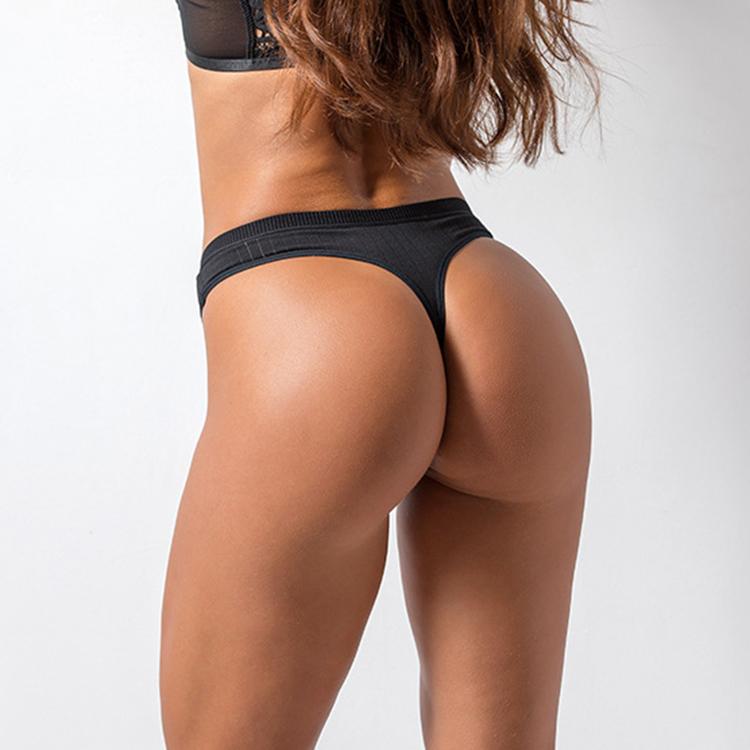 Sexy Của Phụ Nữ Thong Tóm Tắt Mềm Quần Lót Dây Bán Buôn Đồng Bằng Bông T Lại Thong Cho Cô Gái