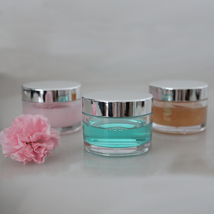 hot selling private label 2oz 8oz 16oz ps plastic cosmetics cream jar guangzhou