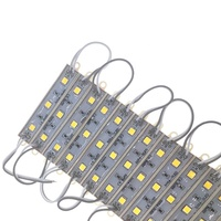Super Bright Lighting warm white LED Module 5050 3 LED DC12V IP65 Waterproof Advertisement Design 0.75w 5054 smd Led Module