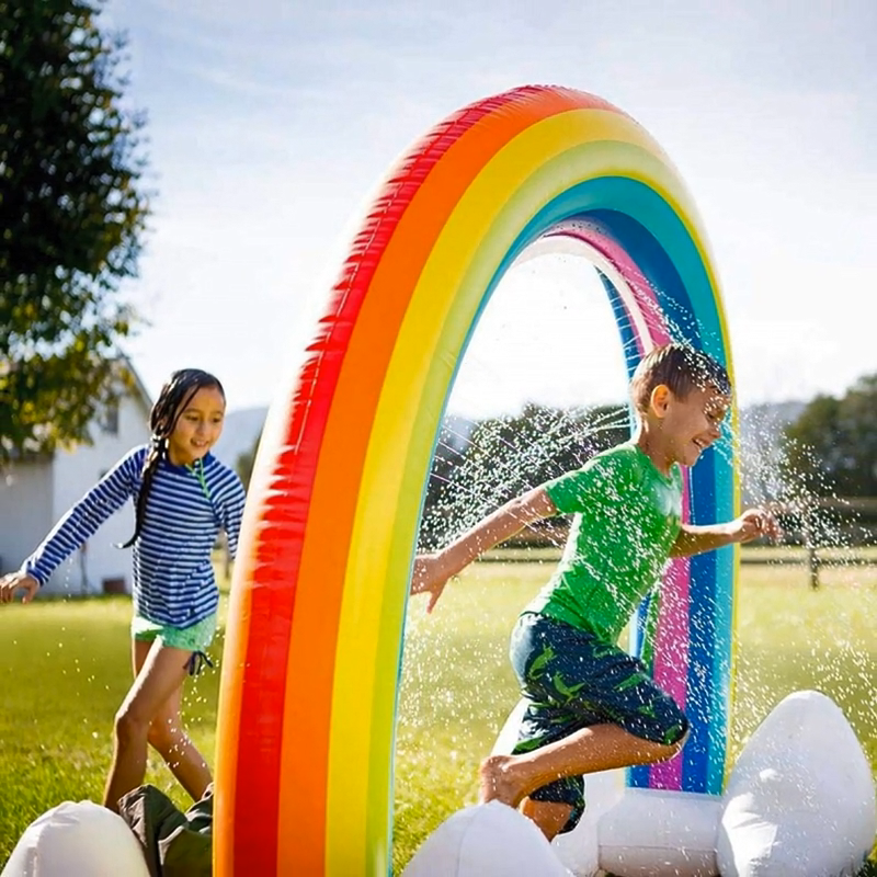 New Toys 2020 Kids PVC Inflatable Water Spray Rainbow Arch Children's ECO Outdoor Lawn Water Playing Toy