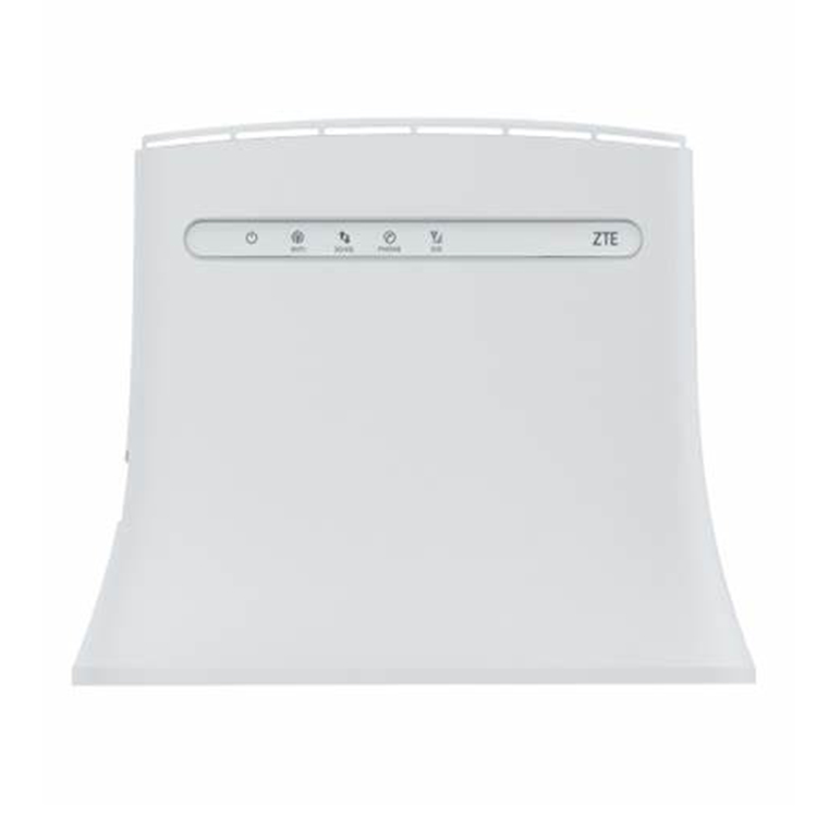 Unlocked ZTE MF283 + LTE/4G kablosuz Wi-Fi yönlendirici Hotspot- 100 Mbps beyaz + 2 adet 4G beyaz anten