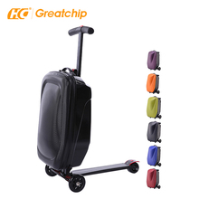 Scooter Harde Bagage Abs Pc Vouwen Wielen Voor Trolley Bagage Kids Reistassen Koffer <span class=keywords><strong>Doos</strong></span> 21 Inch Sets