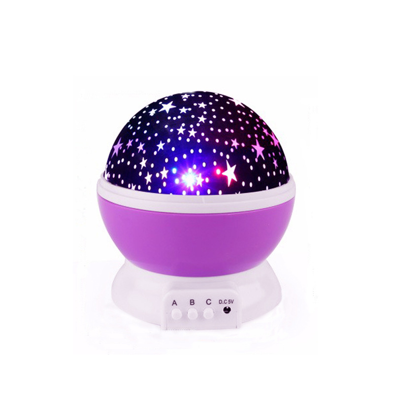 Hot Selling Star Projector Moon Lamp Starry Night Light LED Star Light USB Bedroom Party Rechargeable Night Light