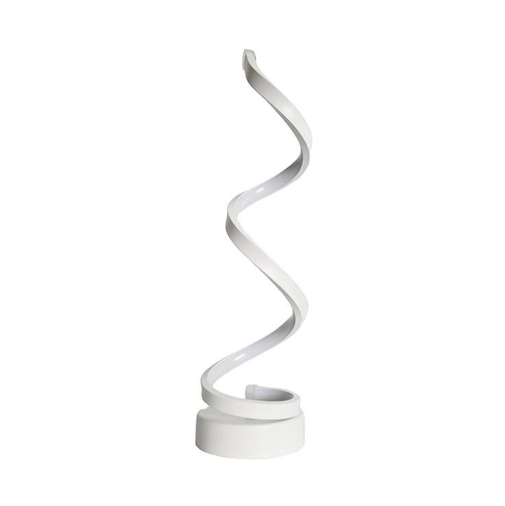 Modern new simple <strong>spiral</strong> creative LED <strong>lamp</strong> bedroom learning desk <strong>lamp</strong>