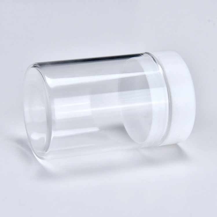 30ml Clear glass bottle with plastic cap