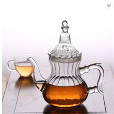 AIHPO49 personalizado claro elegante antiguo regalo de resistente al calor de la floración de hoja suelta de vidrio de borosilicato tazas de té con más caliente infusor