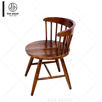 High Quality Dining Durable Stackable Casual Solid Wood Chair