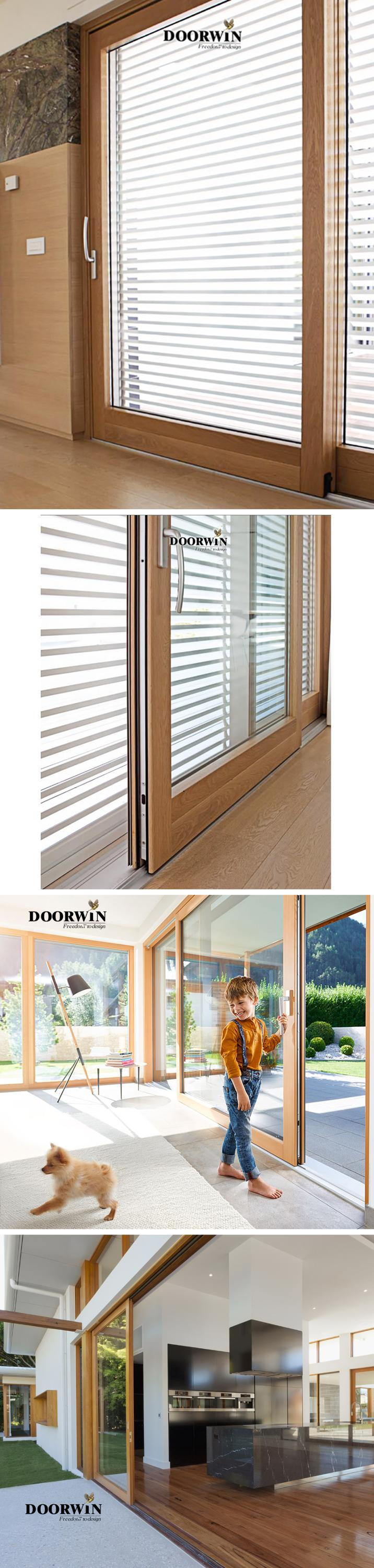 Australian Standards Latest Design Double Glazed Windows Glass Solid Oak Wooden Lift And Sliding Doors With Germany Hardware