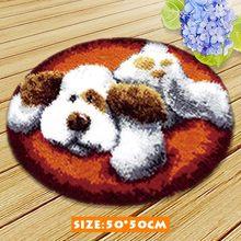 Набор крючков для ковров Kussen Knooppakket Tapijt, набор крючков для ковров с вышивкой, для рукоделия, крючков и холста(Китай)