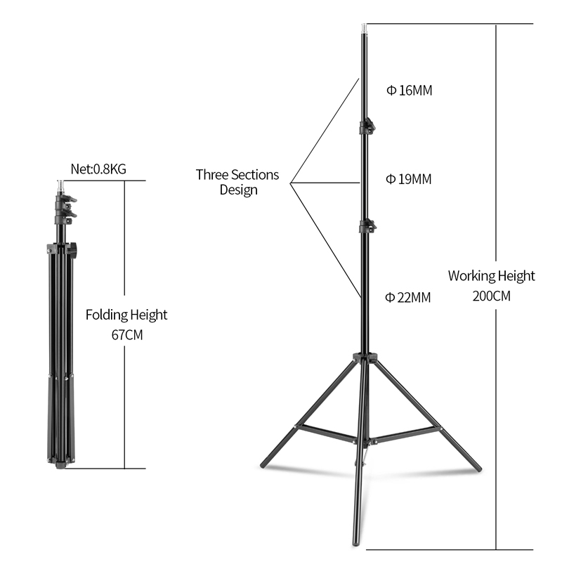 Photography Studio Light Tent Kit 2*135W Bulb+2*Bulb Holder+2*Umbrella+3*Backdrops+Backdrop stand+2*Tripod Stand