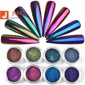 0.3g Chameleon Mirror Nail Glitters Powder DIY Nail Chrome Pigment Dust Manicure Nail Art Decoration Tools 8 Colors