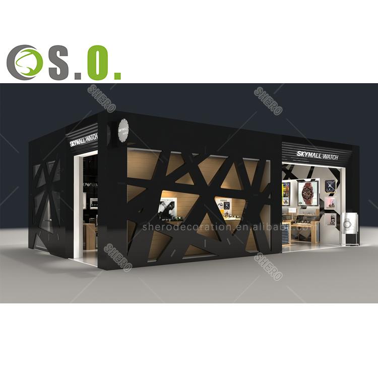 Latest high quality kiosk showcase design watch display cabinet