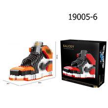 Баскетбольная спортивная обувь, строительные блоки, подвижные мини алмазные DIY Кирпичи, коллекция AJaj, игрушки для мальчиков, друзей, рождест...(Китай)