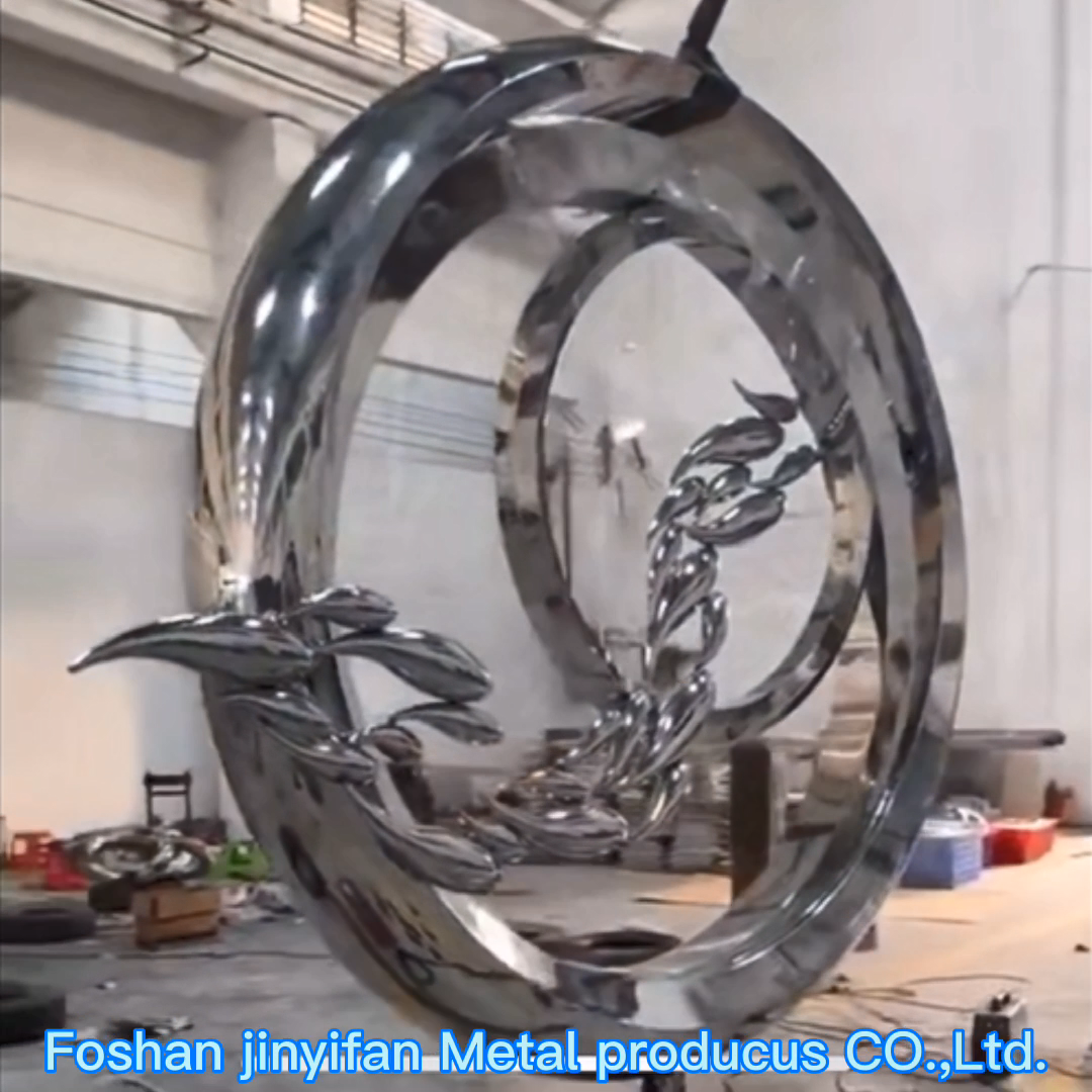 Y732 Elegant Outside Abstract Stainless Steel Metal Sculpture For Garden Landscape Decoration