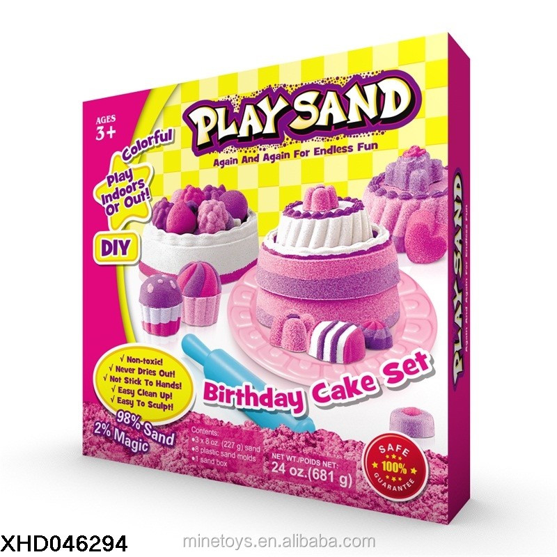 Magic Play Sand Fluffy 3C Non toxic Educational Colored Children Outdoor Space Color magic Sand