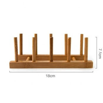 Rack Parallel Wood Dish Display