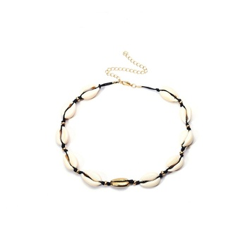 Hot Accessories Bohemian Handmade Vintage Shell Spacer Bead Necklace Female Simple Gold Shell Necklace