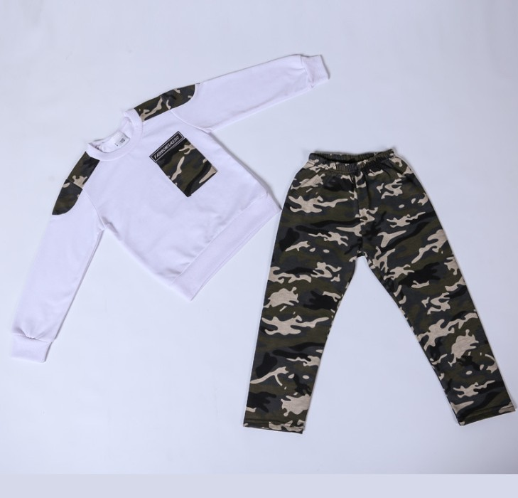 Zm50988h groothandel jongen mode camouflage suits 2020 hot koop boy sport past